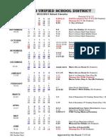 2012-13 School Calendar Approved 7-17-12 Revised 9-6-12