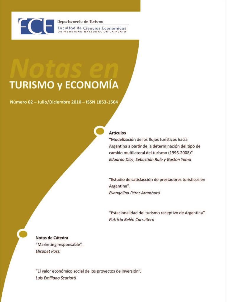 MODELIZACIÓN DE LOS FLUJOS TURÍSTICOS HACIA LA ARGENTINA A PARTIR DE ...