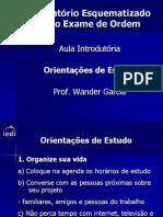OAB Aula Introdutoria Orientacao de Estudos