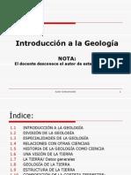 Inroduccion a La Geologia