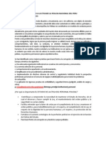 Analisis y Comentario a La Etica de La Policia Nacional Del Peru