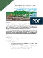 Etapas Actuales de La Industria Petrolera y Su Impacto en El Medio Ambiente2