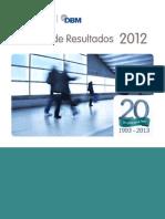 Reporte de Resultados 2012 - LHH DBM Perú