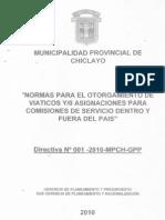 Modelo de Directiva Para Viaticos