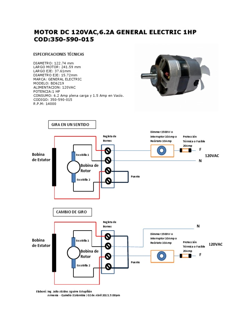 diagrama conexi u00f3n motor general electric bd6219