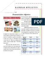 Grammar Bulletin April