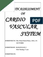 1.Cardio Vascular Assessment, M.Sc (N)
