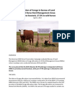 BLM Forage Allocations in Wild Horse Herd Management Areas(1)