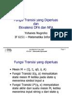 Fungsi Transisi + Ekivalensi DFA-NFA