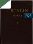 Stalin's Works, Volume 5