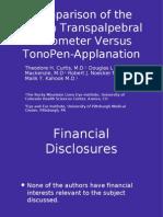 Diaton Tonometer vs TonoPen Applanation Tonometer
