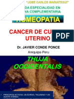 Cancer de Cuello Uterino Tratados Con Homeopatia