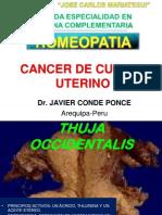 Cancer de Cuello Uterino Tratados Con Homeopatia