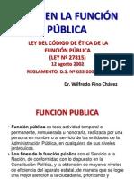 CÓDIGO DE ÉTICA DE LA FUNCIÓN PÚBLICA