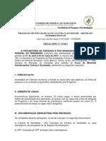 Edital de Selecao PGCult -2013.1