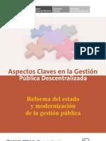 Reforma Del Estado y Modernizacion de La Gestion Publica