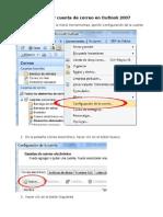 Configurar Cuenta de Correo en Outlook 2007