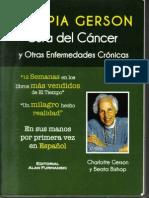 TERAPIA DE GERSON Cura del Cancer y Otras Enfermedades Cronicas