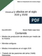 Musica y Afecto en El Siglo XVii y XVII