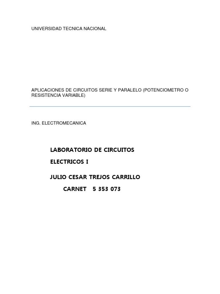 Circuito Seri E Paralelo : Aplicaciones de circuitos serie y paralelo