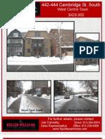 442-444 Cambridge Feature Sheet