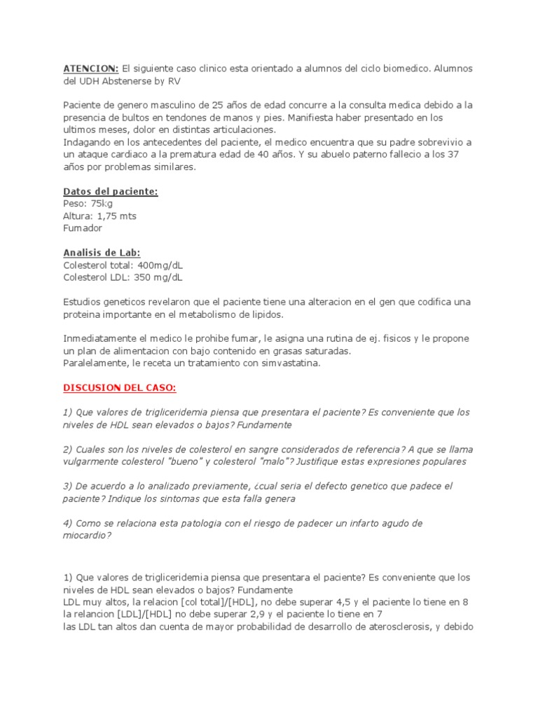Hdl bajo causas pdf