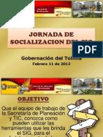 Jornada de Socializacin Sig Planeacin