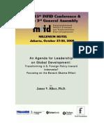 INFID An Agenda for Leadership on Global Development Riker 2008