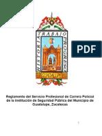 Reglamento de SPCP de la Institución de Seguridad Pública