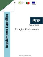 Regulamento Estágios Profissionais - Portaria 92-2011 alterada pela 309-2012 e 3B-2013