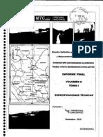 Vol II Tomo i - Especificaciones Tecnicas
