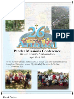 26th Annual Mission Conference