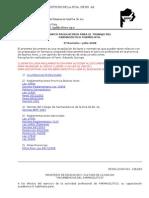 Marco Regulatorio Formulista - 3 Rev - Julio 2008