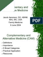 Alt and Comp Medicine