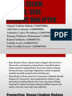 Presentasi Bab III Agama Islam, Budaya, Seni, Filsafat Dan Iptek