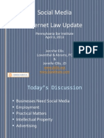 Social Media  Internet Law Update Presentation