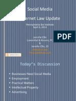 Social Media  Internet Law Update Presentation