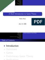 Heiko Hotz Spieltheorie Vortrag