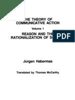 the Theory of Communicative Action Vol 1 Jurgen Habermas