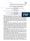 Lexical Richness, a reliable measure of Intermediate L2 Learners' current status of acquisition of English language