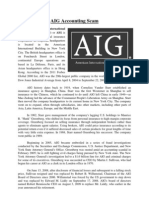 AIG Accounting Scam