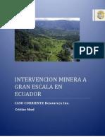 Mineria en Ecuador
