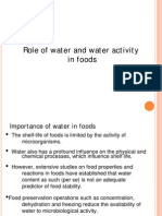 Lecture 1-Role of Water and Water Activity in Foods