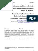 Diversidade sexual, Gênero e Exclusão Social na produção da Consciência Política de Travestis