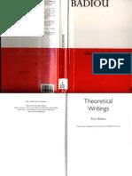 Theoretical Writings - Alain Badiou
