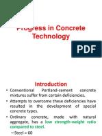 Lecture 2 - Progress in Concrete