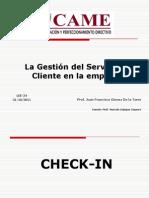 Came.s822.Pr La Gestion de Servicio Al Cliente en La Empresa