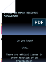 Ethics in HRM human