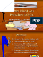 Arterial Blood Gas Procedure Power Point