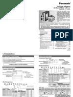 Panasonic AC Servo Motor & Driver MINAS A4-Series